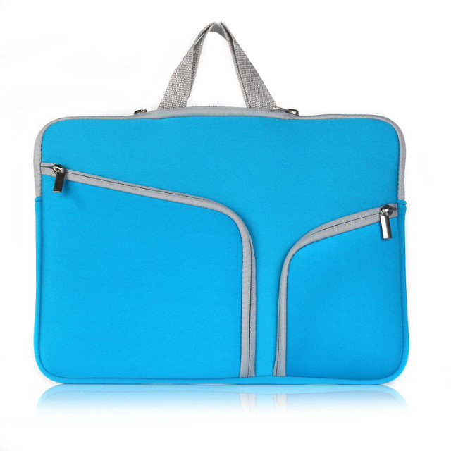 Fashion Colors Laptop Neoprene Sleeve Handle Bag Covers for all sizes macbook, light blue