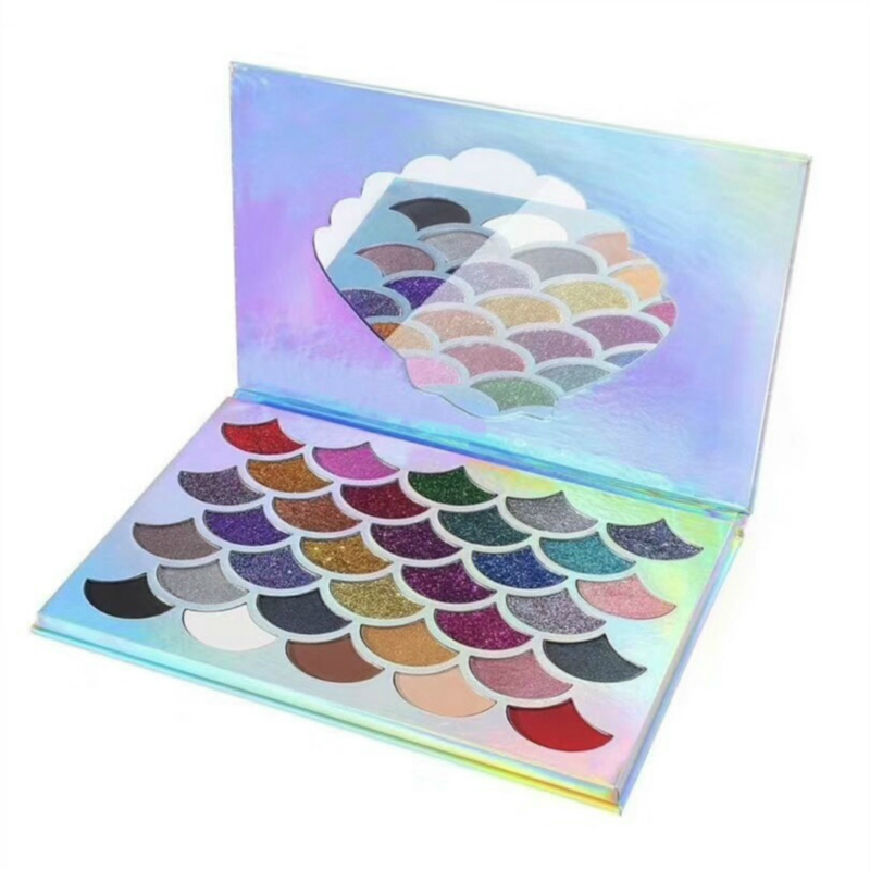 2018 New arrival Beautiful Cosmetics 32 Color The Mermaid scale Glitter eyes shadow Palette Makeup Eye shadow Eyeshadow Palettes