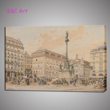 Street Scenery Print Large Wall Paintings Canvas Printing for Decor