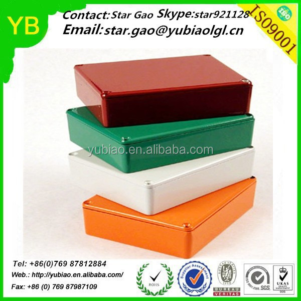 Colorful anodized Custom 1590B Electronics Aluminum Enclosure Box,CNC Machining Aluminum Box Made in China