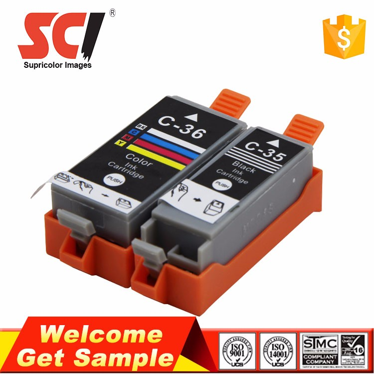 Zhuhai Factory IP100 Mini320 260 printer cartridge for Canon c35 ink c36