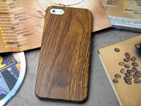 wood case for iphone 5 5S classical Vintage Retro Style case leather sticker pc cover