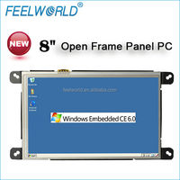 8 inch open frame pc all in one touch screen windows CE6.0