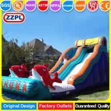 ZZPL Outdoor Cheap Commercial Big Kahuna Inflatable Dry or Water Slide for Adults and Kids