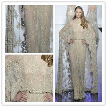 EV95 Luxury Summer Maxi dresses 2015 Lebanon Abaya heavy Beaded gold Fashion dress for women Designer evening gowns