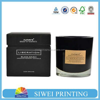 Custom logo professional elegant paper candle gift packaging box