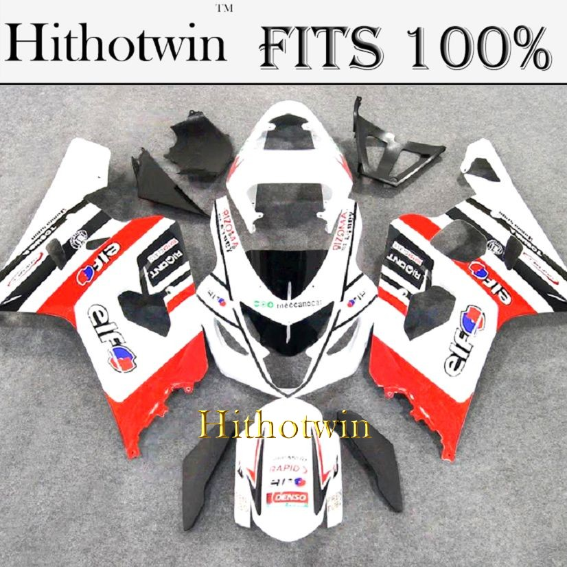 INJECTION MOLDING Fairing For Suzuki K4 GSXR600 red white GSXR750 2004 2005 ABS Plastic Fairing Bodywork Set Kit