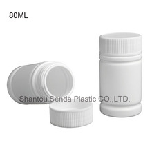 Plastic Empty Solid Powder Medicine Bottles Pill Tablet Container Holder White