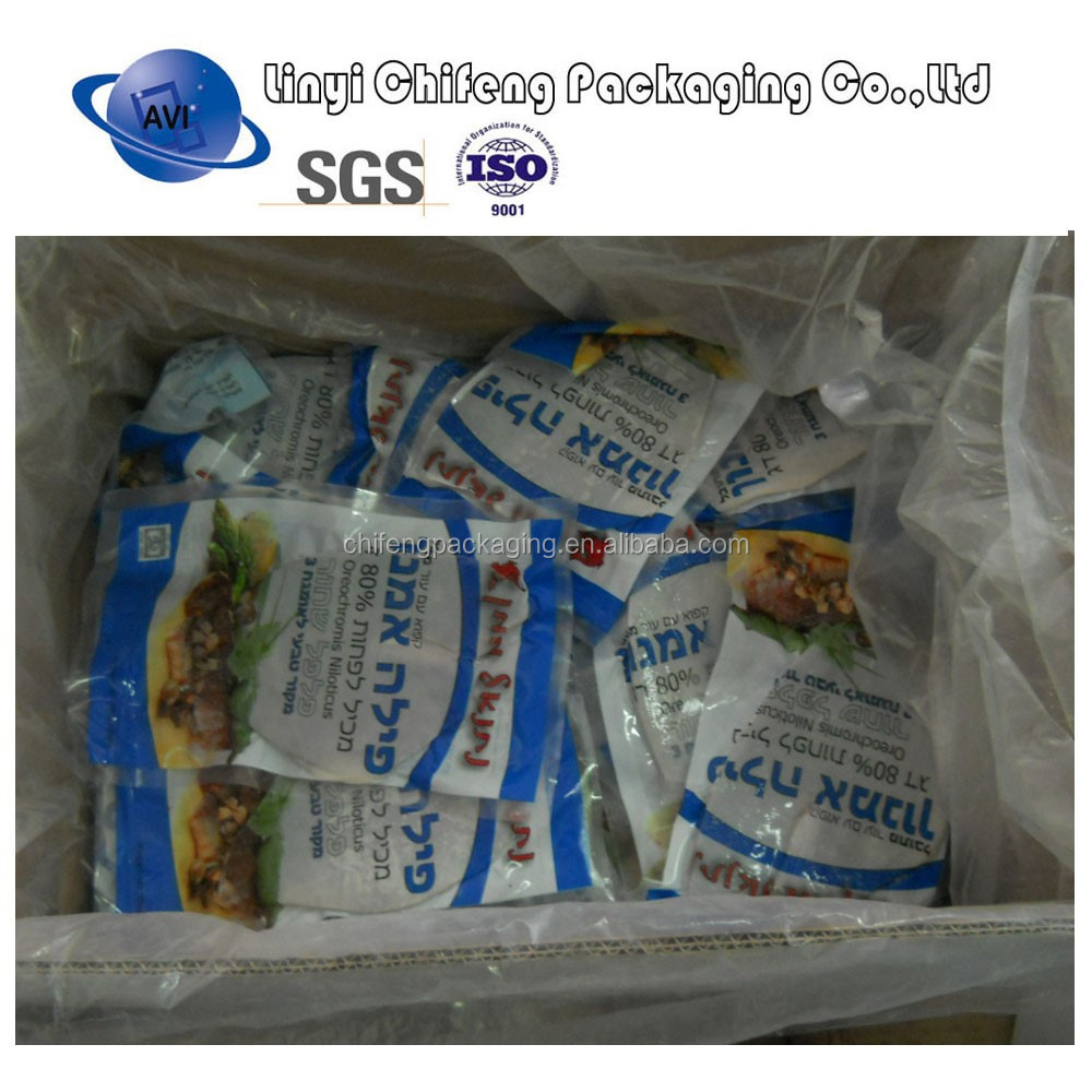 heat seal bag for frozen food for packaging frozen fish, seafood, vegetables
