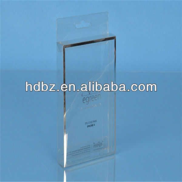 clear custom plastic boxes packing for phone case