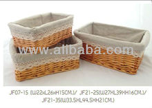 Basket with Fabric Decor