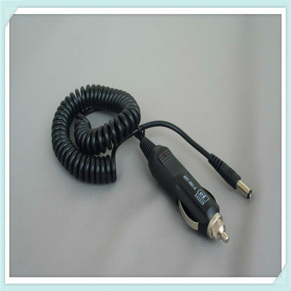 car cigarette lighter plug to dc plug cable with led light