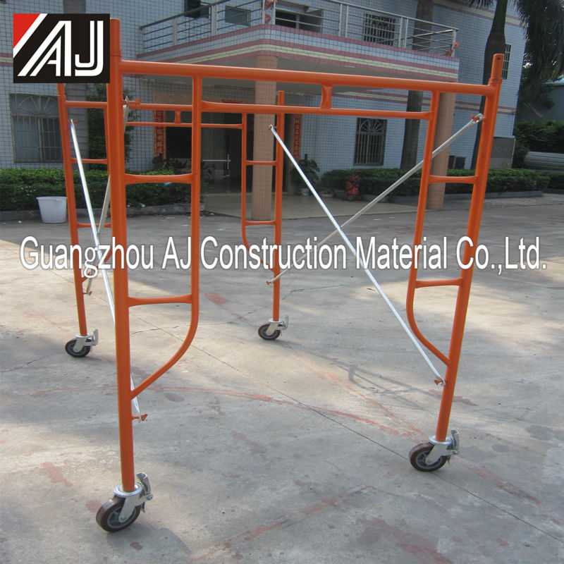 Light weight portable scaffolding with wheels