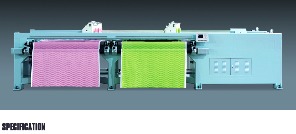 YBD24 High Speed Horizontal Quilting Embroidery Machine double width)
