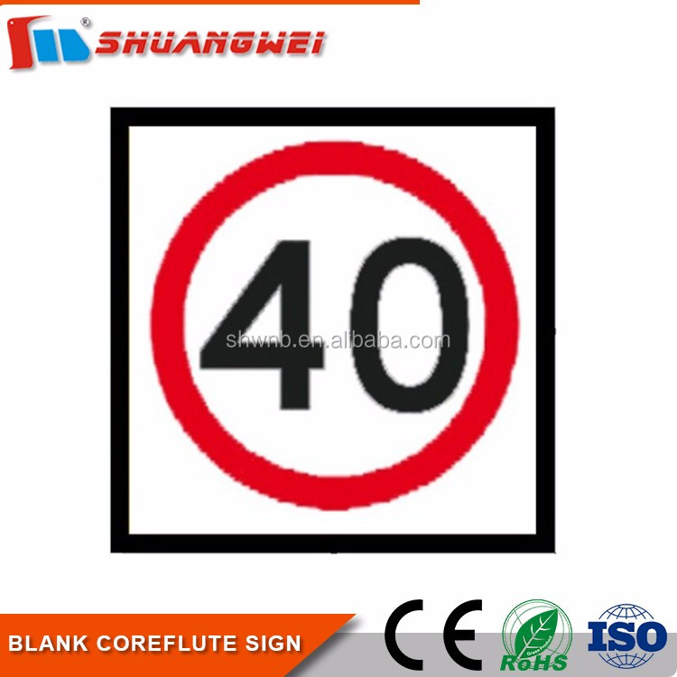 Customized road safety Reflective traffic signs/corflute safety