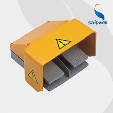 FS-101 Saip Saipwell China Factory Wholesale Pedal Foot Switch Double Waterproof Metal Industrial Foot Switch