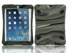 2015 New arrival smart Wholesale heavy duty rubber Shockproof Armor Case Cover For iPad Air with soft shoulder strap