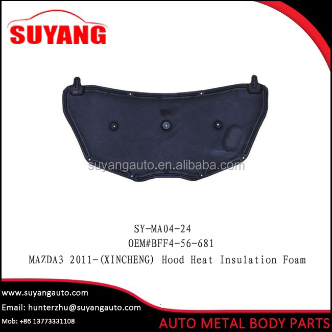 Aftermarket steel hood heat insulation foam for Mazda 3 auto body parts