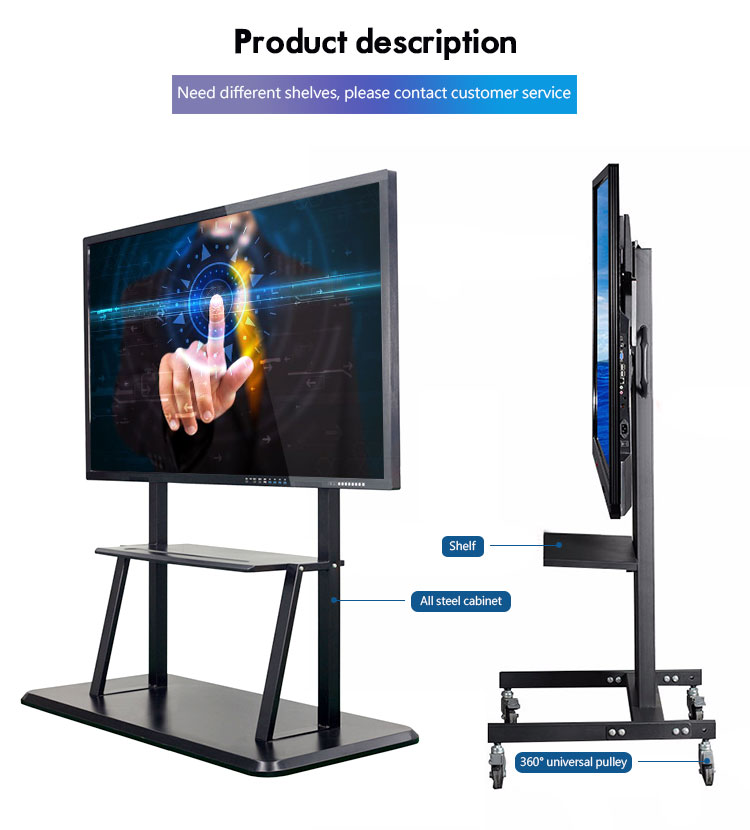 Flexible 65 70 inch digital touch screen smart IR projector teaching interactive whiteboard