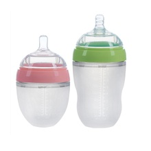 03 ECO Friendly Nursing Newborn Wide Neck Anti Colic Collapsible Sipper Milk Nipple Feeder Set Silicone Baby Feeding Bottle