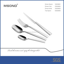 elegant square handle MSOND brand Peakedness stainless steel names of hotel cutlery set items