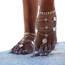 Fashion Silver Chain Barefoot Sandals Anklets Body Jewelry