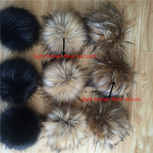 Cute Fashion High Quality Fake Raccoon Fur pom pom with Good Price for Bags,Beanie hat,toys and shoes.
