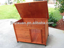 wooden dog kennel with plastic Flap Door /wooden dog house/wooden pet house