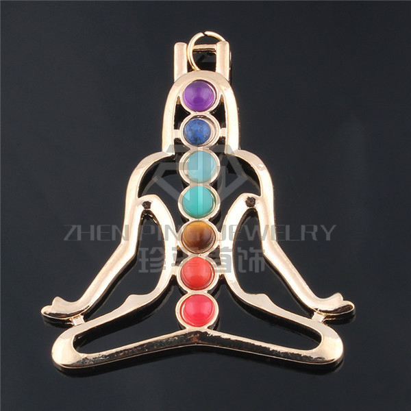 China Yoga 7 Chakra Beads Reiki meditation Ckakra stone necklace Chakras Healing Jewelry