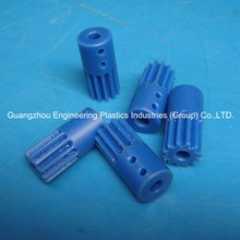 pinion gears engineering plastic machining parts blue Nylatron nylon pinion for slide door