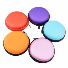 Chengde Earphone Carrying Case, Round Shape Carrying Hard EVA Case Storage Bag for Earbuds Earphone Headset,USB Cable
