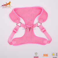 Comfortable Pink Pet Harness Dog Leather Harness Reflective