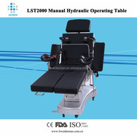 Mobile manual surgical table with memory foam