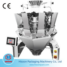 10 heads multihead combination weigher for chewing gum/cocktail biscuits/Croissant/crunch snaps/date palm/deep-freeze products