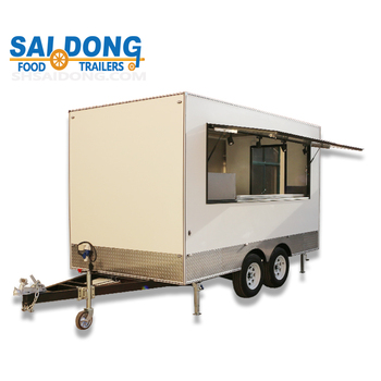 Factory directly price Mobile outdoor hot dog cart trailer design