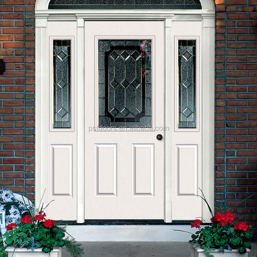 Steel exterior double french doors buy steel exterior for Metal entry doors