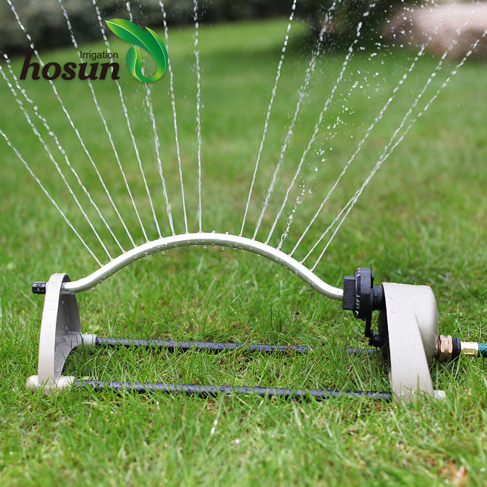 Metal jet activated mini mobile impact micro head lawn water system irrigation garden oscillating sprinkler