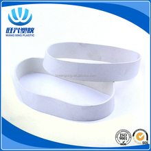 2017 Hight elasticity wide white colored elastic rubber band rings for stationery office use