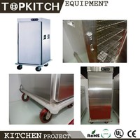 High Efficiency User Friendly CE Approved AISI 304 Stainless Steel Food Warmer Cabinet