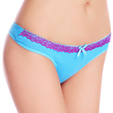 Sex slim girl panties for style new design the wasit lace trim ladies g-string cotton ladies thong