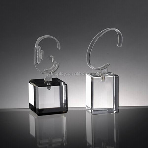 Acrylic desktop accessories display watch display single display stand with clear block base