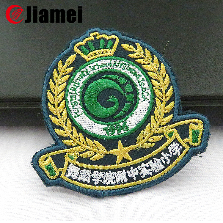 Embroidered your own logo custom made cheap embroidery emblem