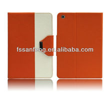 New style dual color book leather case for ipad mini,stand case for ipad mini,for ipad mini belt clip leather case