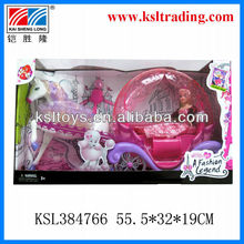 kids plastic toys carriage with princess