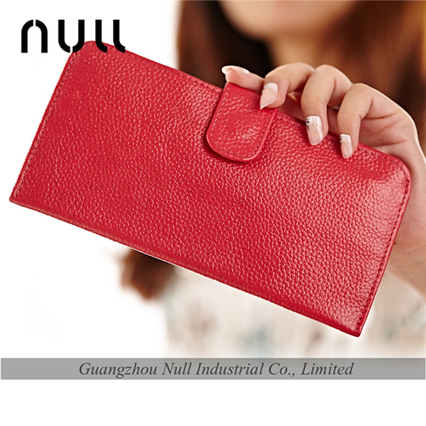 Top grain handmade lady leather wallet wholesale purse
