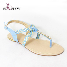 Wholesale latest design ladies/girls flat sandals