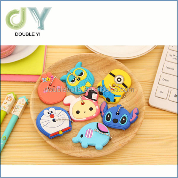 3D cartoon silicone key cap / silicone key cover / silicone key chains