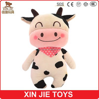 custom milk cow shape plush pillow
