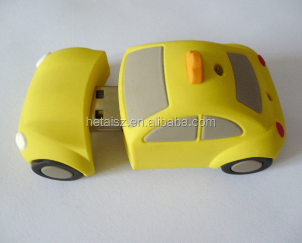 rubber taxi shaped usb drive, different shape usb pen drives