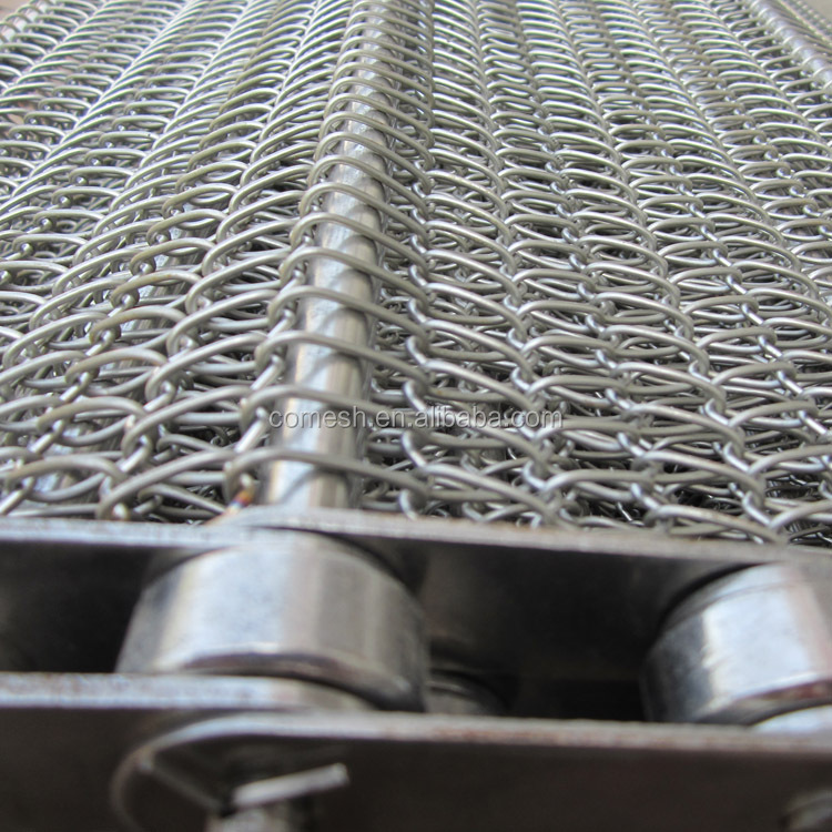 Metal Balanced Weave Wire Mesh Conveyor Belt with chain driven